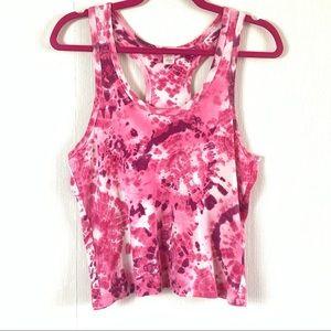 Victoria's Secret Pink Tie Dye Cropped Tank Top L
